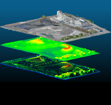 Drone Analyze Stockpiles