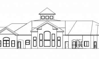 Multifamily Clubhouse Exterior Elevation AutoCAD