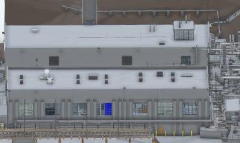 UGA Steam Plant Exterior Elevation Model