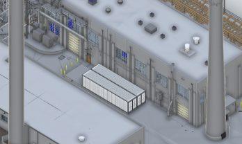 Steam Plant Exterior Model