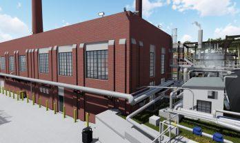 UGA Steam Plant Exterior Rendering