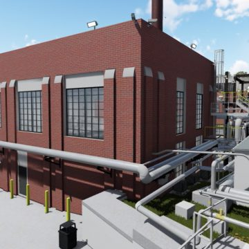 UGA Steam Plant Exterior Rendering