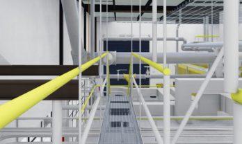 UGA Steam Plant Interior Catwalk Rendering