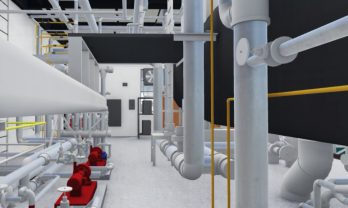 UGA Steam Plant Interior Rendered Model