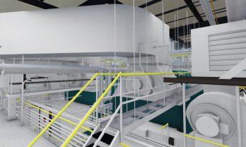 Steam Plant Rendering -Mezzanine View