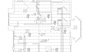 Retail Above Ceiling Plan Checklist Coffee Shop