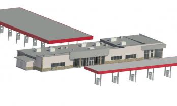 Retail Travel Center 3d Model