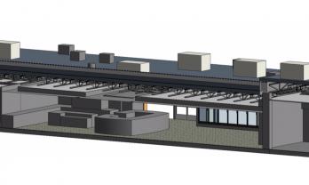 Travel Center Revit Model Interior View