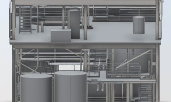 industrial-processing chemical plant model