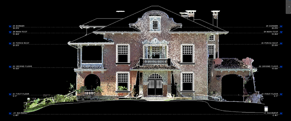 Elevation PointCloud Historic Renovation Texas