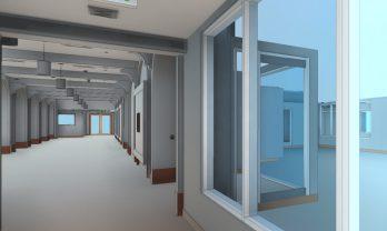 Hospital Interior Corridor